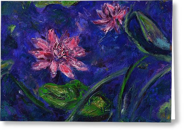 Monet's Lily Pond II Greeting Card by Xueling Zou