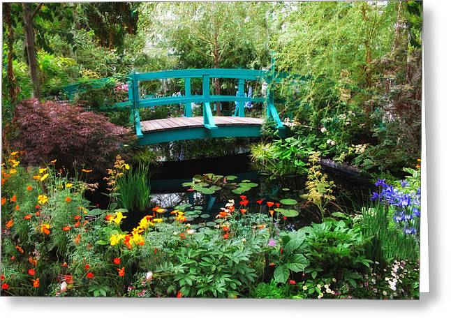 Water Garden Greeting Cards - Monets Lily Pond Greeting Card by Jessica Jenney