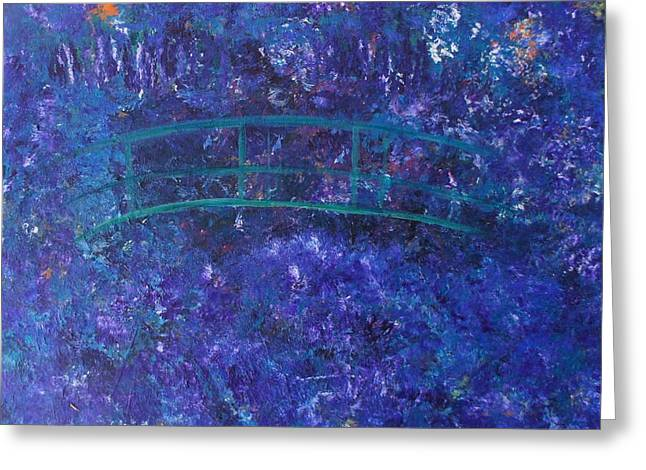 Monet's Place Greeting Card by Kristine Bogdanovich