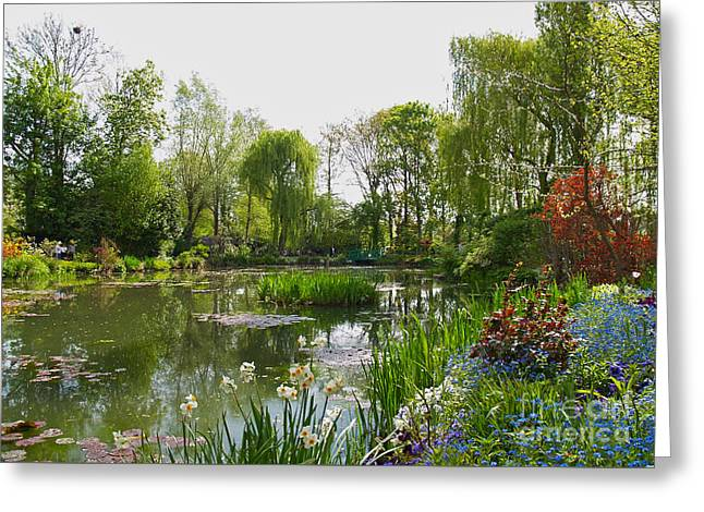 Water Garden Greeting Cards - Monets Water Garden at Giverny Greeting Card by Alex Cassels