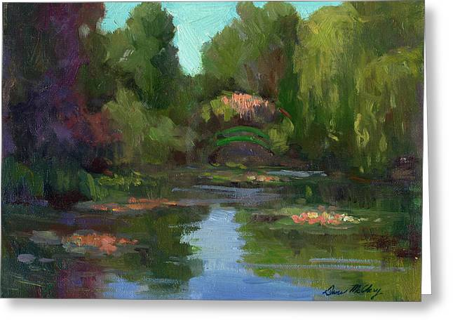 Costa Greeting Cards - Monets Water Lily Pond Greeting Card by Diane McClary