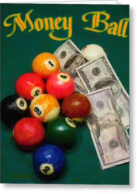 Money Ball Greeting Card by Frederick Kenney