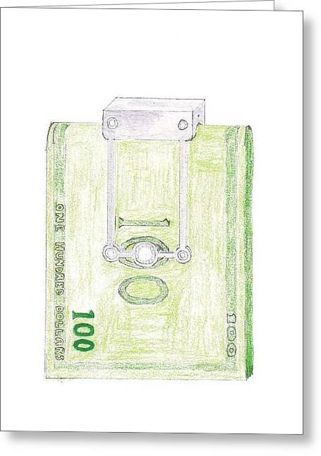 Giuliano Capogrossi Colognesi Greeting Cards - Money Clip Greeting Card by Giuliano Capogrossi Colognesi