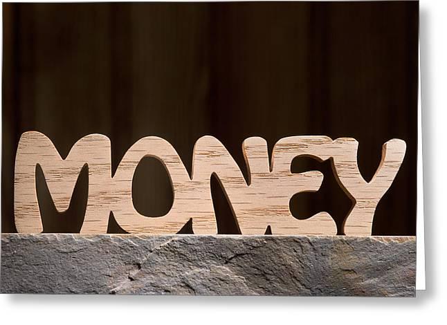 Money Greeting Card by Donald  Erickson