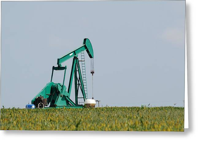Oil Pumper Photographs Greeting Cards - Money Field Greeting Card by Mike Roach