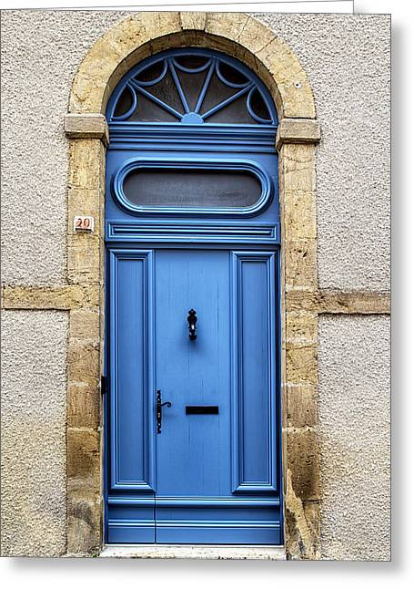 Stone House Greeting Cards - Monflanquin Door Greeting Card by Nomad Art And  Design