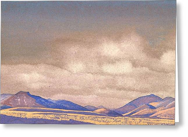 Recently Sold -  - Nicholas Greeting Cards - Mongolia - Hills of Chahar Greeting Card by Nicholas Roerich