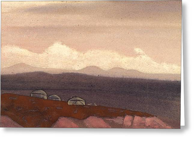 Recently Sold -  - Nicholas Greeting Cards - Mongolia - Sunit Greeting Card by Nicholas Roerich