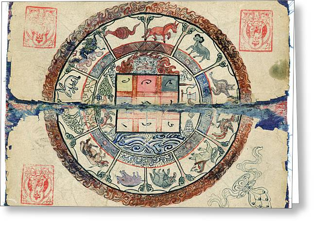 Mongolian Astrology Greeting Card by National Library Of Medicine