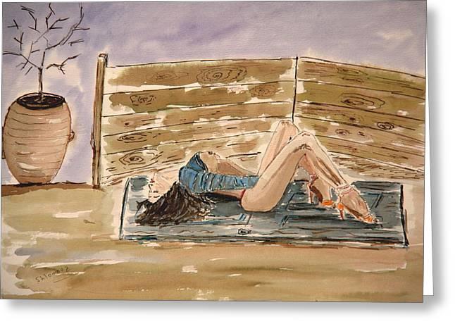 Monika Passion. Greeting Card by Shlomo Zangilevitch