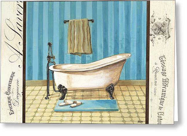 Powder Greeting Cards - Monique Bath 1 Greeting Card by Debbie DeWitt
