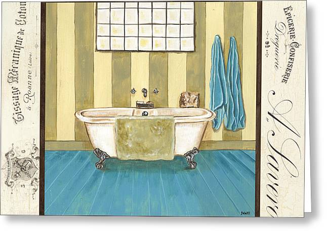 Tile Greeting Cards - Monique Bath 2 Greeting Card by Debbie DeWitt