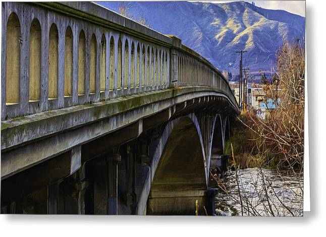 Stones Greeting Cards - Monitor Bridge Greeting Card by Jean OKeeffe Macro Abundance Art