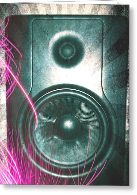 Monitor Speaker - In The Studio Greeting Card by Brian Howard