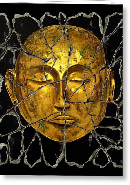 Monk In Meditation Greeting Card by Steve Bogdanoff