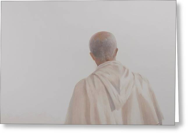 Monks Greeting Cards - Monk, Santantimo I, 2012 Acrylic On Canvas Greeting Card by Lincoln Seligman