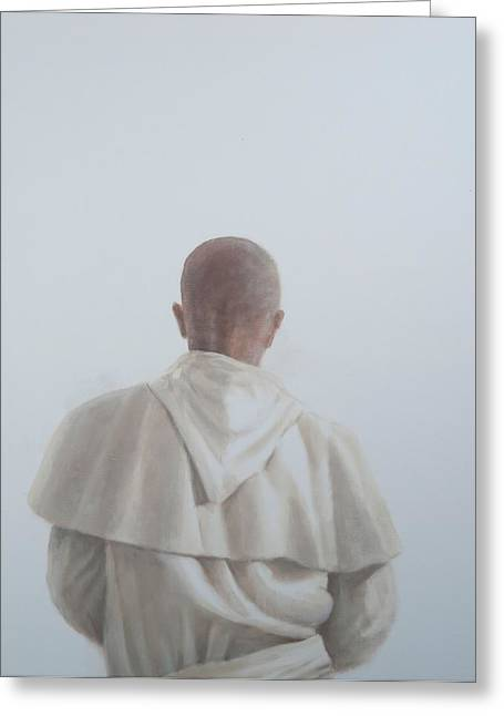 Monks Greeting Cards - Monk Santantimo Ii, 2012 Acrylic On Canvas Greeting Card by Lincoln Seligman