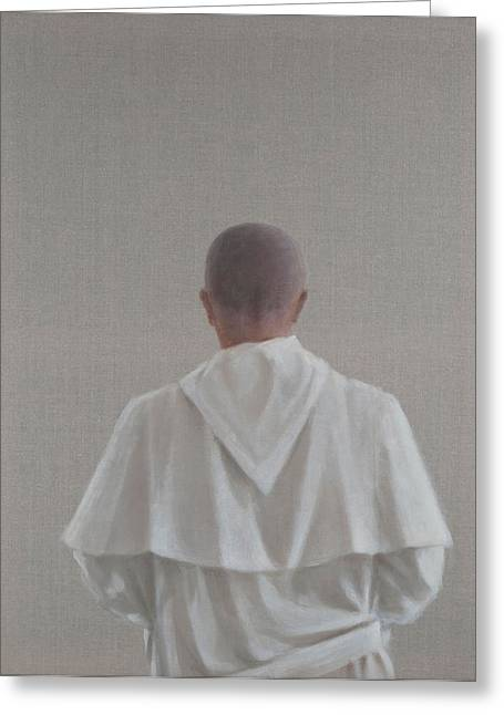 Monks Greeting Cards - Monk Santantimo Iii, 2012 Acrylic On Canvas Greeting Card by Lincoln Seligman