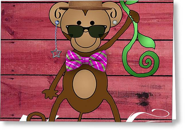 Kids Room Greeting Cards - Monkey Business Collection Greeting Card by Marvin Blaine