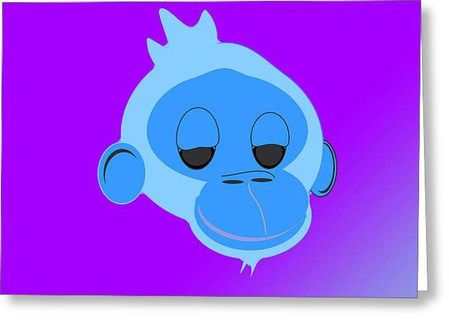 Monkey Dazed Greeting Card by George Harrison
