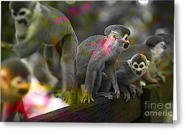 Monkey Greeting Cards - Monkeys Greeting Card by Marvin Blaine