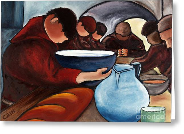 William Cain Greeting Cards - Monks at Prayer Greeting Card by William Cain