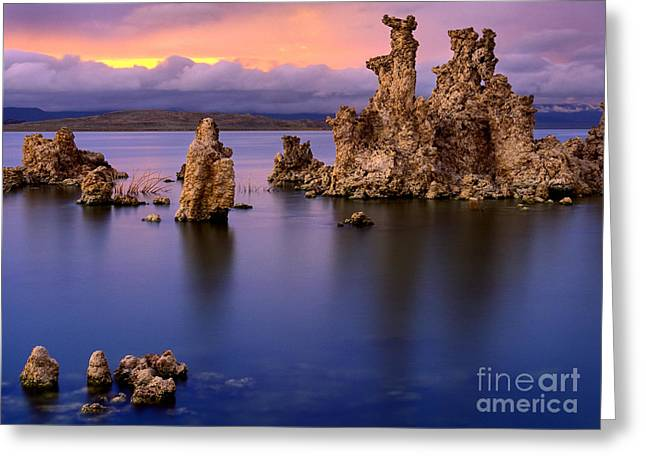 Tufa Greeting Cards - Mono Lake Afterglow Greeting Card by Inge Johnsson