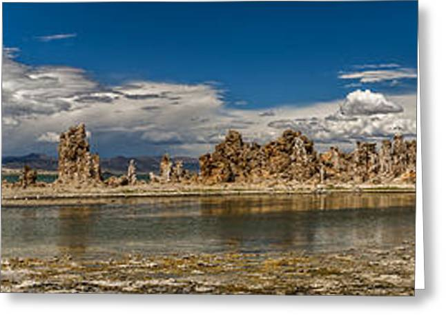 California Beach Greeting Cards - Mono Lake Pano Greeting Card by Cat Connor