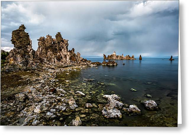 California Tourist Spots Greeting Cards - Mono Lake Rock Formations Greeting Card by Jerome Obille