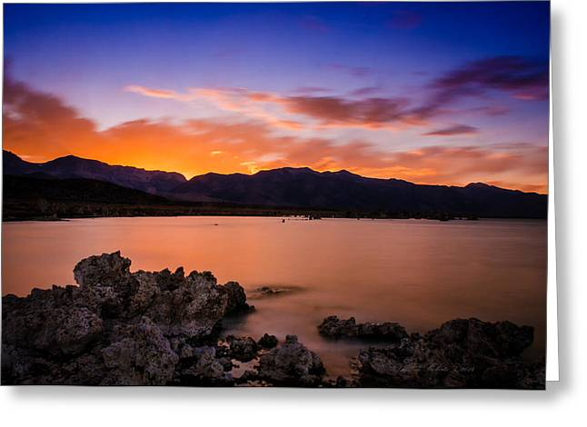 Mono Greeting Cards - Mono Lake Sunset Greeting Card by La Rae  Roberts