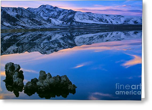 Formation Greeting Cards - Mono Lake Twilight Greeting Card by Inge Johnsson