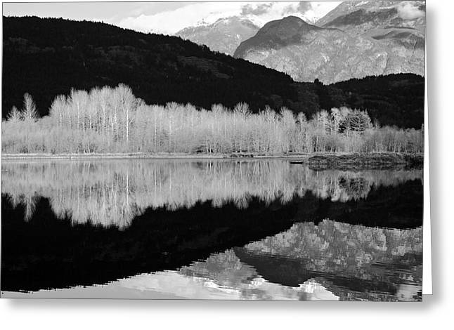 Mile One Greeting Cards - Mono One Mile Lake Greeting Card by Pierre Leclerc Photography