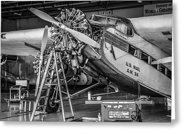 Ford Tri-motor Greeting Cards - Mono Tri-Motor Greeting Card by Chris Smith