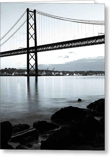 American Bridge Company Greeting Cards - Monochromatic Morning II Greeting Card by Marco Oliveira