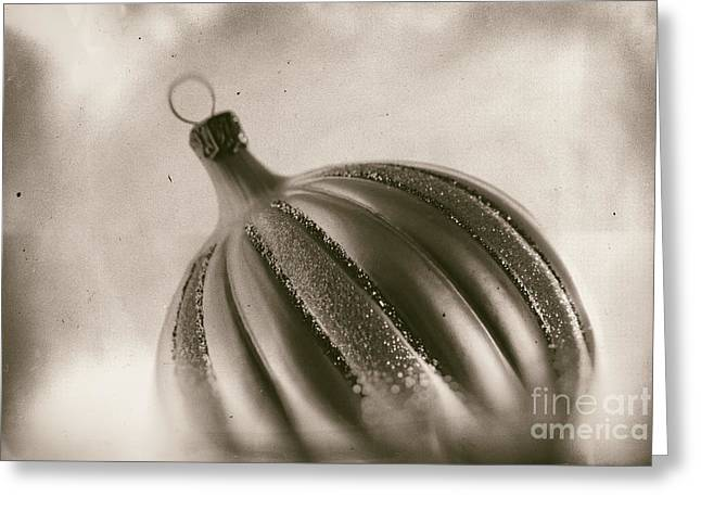 Weihnachten Greeting Cards - Monochrome Christmas Ornament Greeting Card by Sabine Jacobs