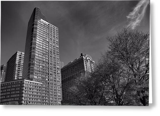 New Mind Greeting Cards - Monochrome Manhattan Greeting Card by Dan Sproul