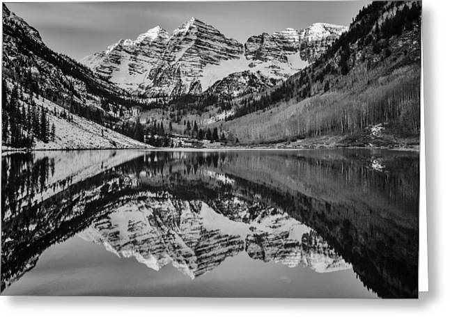 Colorado Mountain Greeting Cards Greeting Cards - Monochrome Maroon Greeting Card by Darren  White
