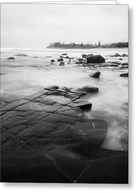 Ocean Landscape Greeting Cards - Monochrome Ocean Greeting Card by Parker Cunningham
