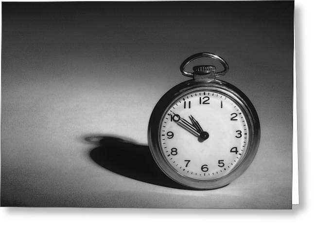 Timely Greeting Cards - Monochrome Pocket Watch  Greeting Card by David and Carol Kelly