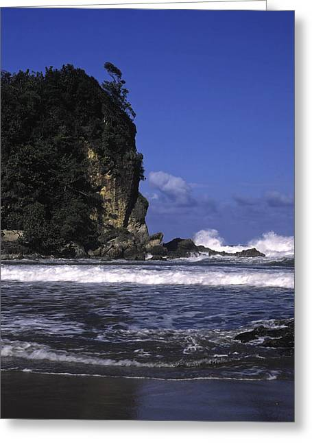 Monolith Greeting Cards - Monolith and Waves Greeting Card by Sally Weigand