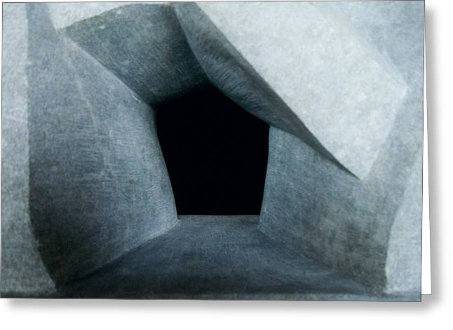 Entrances Sculptures Greeting Cards - Monolith Entrance Greeting Card by Daniel P Cronin