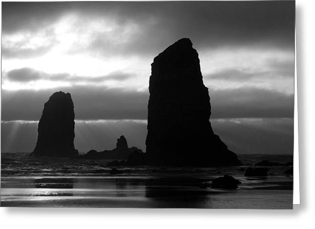 Exciting Surf Greeting Cards - Monoliths Greeting Card by John Daly