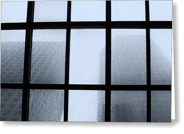 Monolith Greeting Cards - Monoliths Skylight in Rain III Greeting Card by Tony Grider