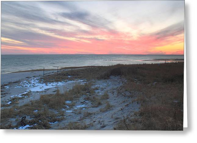 Chatham Greeting Cards - Monomoy National Wildlife Refuge Cape Cod Sunset Greeting Card by John Burk