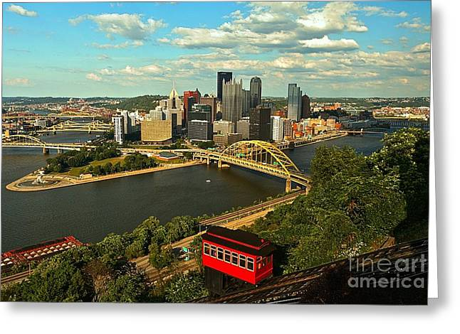 Duquesne Incline Greeting Card by Adam Jewell