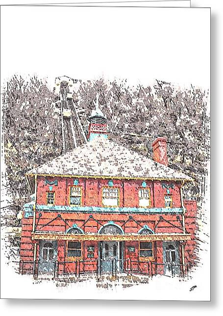 Incline Mixed Media Greeting Cards - Monongahela Incline Greeting Card by Spencer McKain