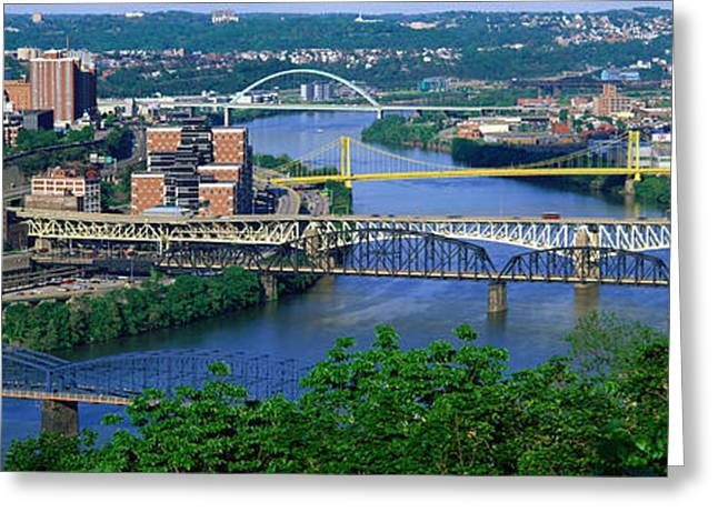 Monongahela River Greeting Cards - Monongahela River Pittsburgh Pa Usa Greeting Card by Panoramic Images