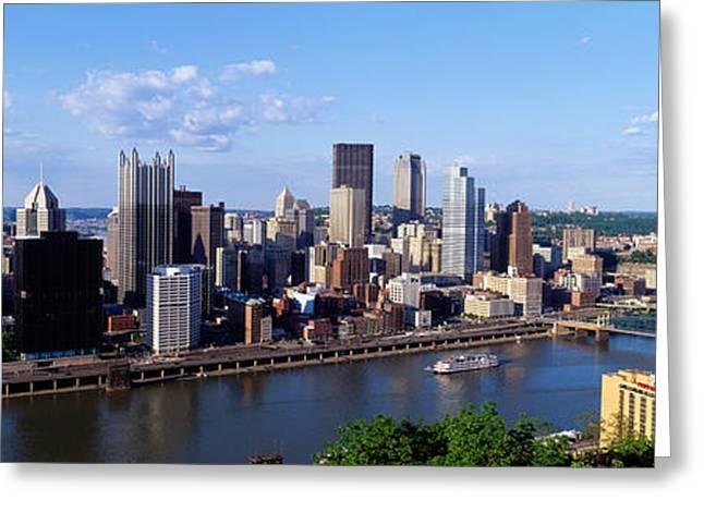 Pa Greeting Cards - Monongahela River, Pittsburgh Greeting Card by Panoramic Images