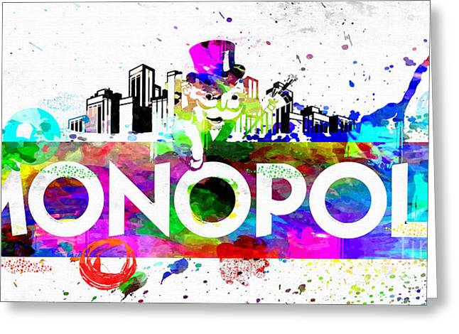 Monopoly Mixed Media Greeting Cards - Monopoly Greeting Card by Daniel Janda