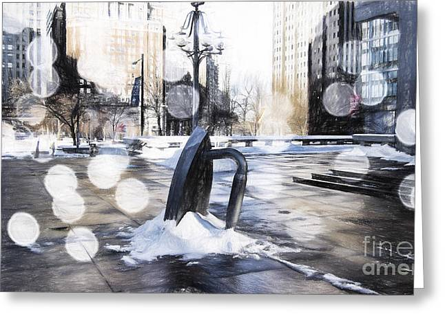 Monopoly Greeting Cards - Monopoly Iron Statue-Philly Greeting Card by Douglas Barnard